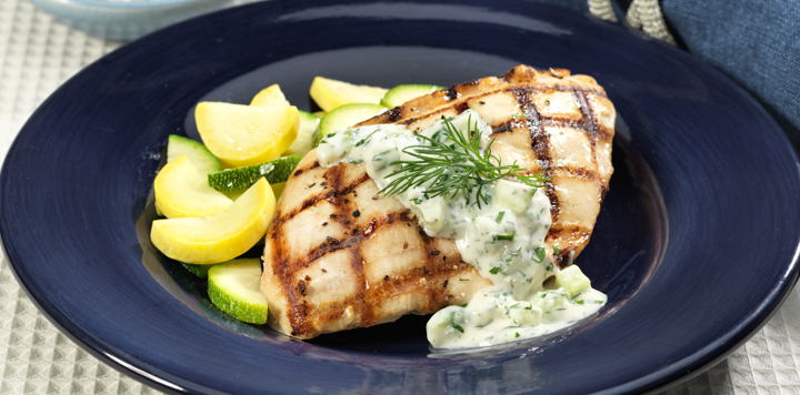 lemon pepper chicken with creamy cucumber sauce recipe